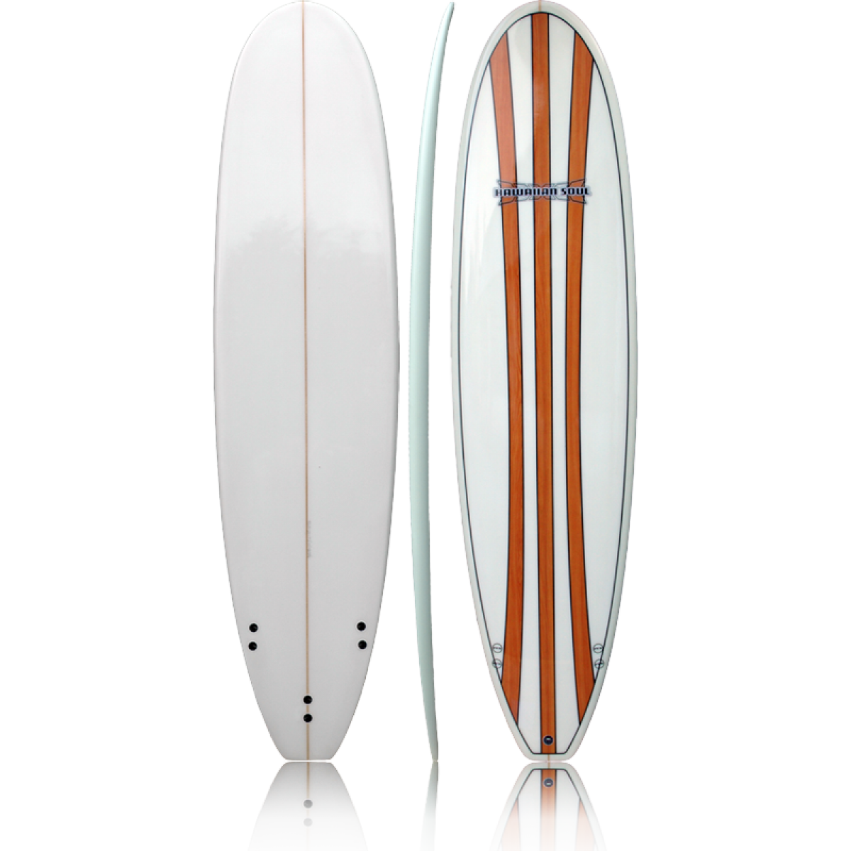 Hawaiian Soul 9 2 Wooden Veneer Longboard Dinged But Repaired