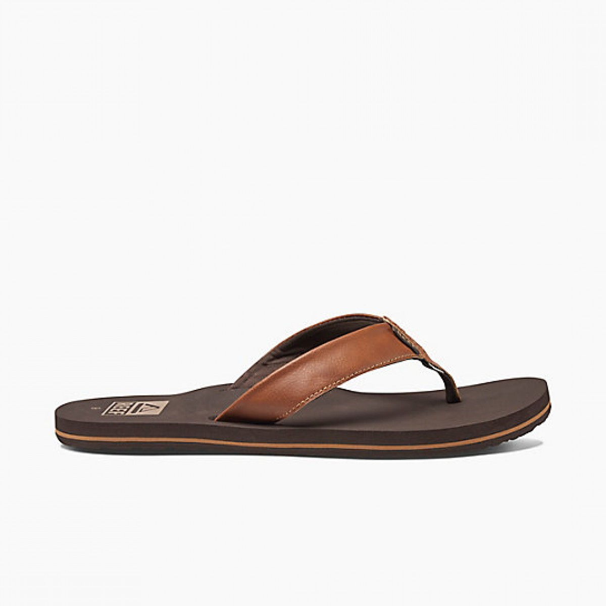 07d48735 Reef Twinpin Classic Flip Flops (Brown)