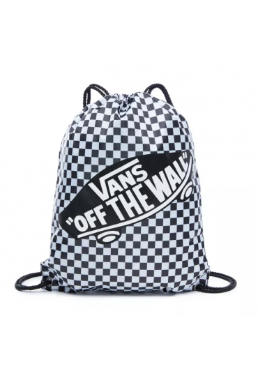 VANS BENCHED CINCH BAG (Black/White Check)