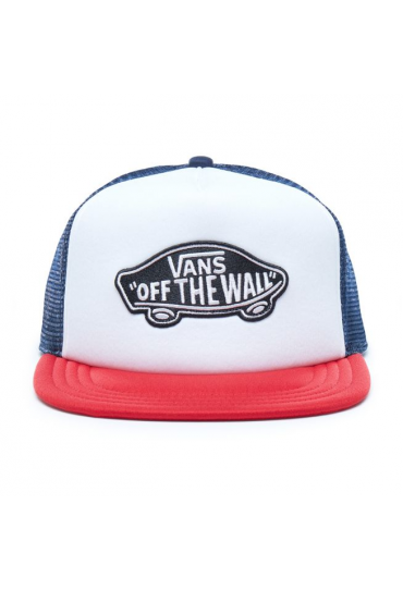 VANS CLASSIC PATCH TRUCKER HAT (Dress Blues-White-Chili Pepper)