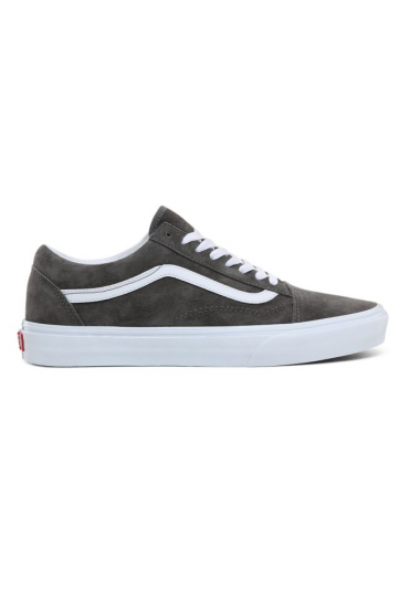 VANS PIG SUEDE OLD SKOOL SHOES (Pewter/True White)