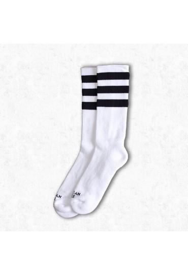 American Socks Old School II - Mid High (White-Black)