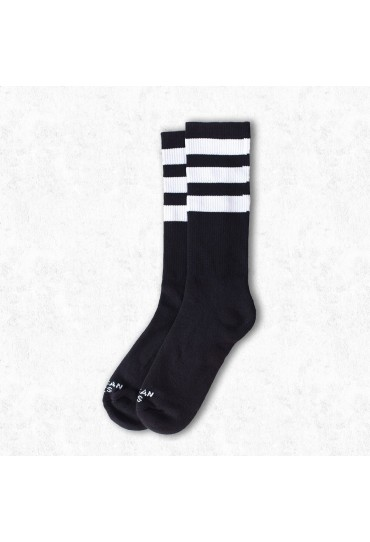 American Socks Back in Black II - Mid High (Black & White)