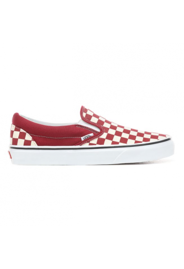 VANS Checkerboard Slip-On Shoes (Rumba Red)