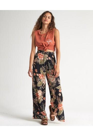 Billabong Falling Sun - Viscose Trousers for Women (Black Floral)