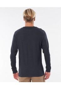 RipCurl Pivoting Long Sleeve Tee (Black Marled)