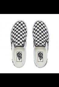 VANS CHECKERBOARD CLASSIC SLIP-ON SHOES (Black and White Checker/White)