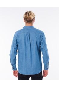 RipCurl Searchers Denim Long Sleeve Shirt (Dusty Blue)