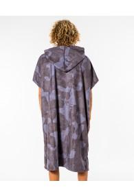 RipCurl Mix Up Print Hooded Towel (Slate Blue)