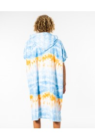 RipCurl Mix Up Print Hooded Towel (Blue/White)