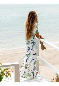 Roxy Paradise Song Short Sleeve Maxi Dress