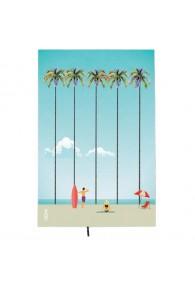 One Zipper-Palm Beach · Beach Towel