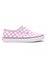 VANS CHECKERBOARD AUTHENTIC SHOES (Orchid/True White)