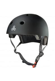 Triple Eight Dual Certified Helmet (All Black Matte) L/XL