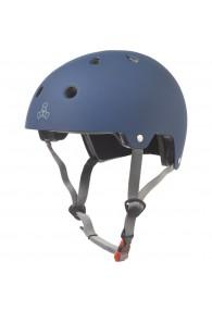 Triple Eight Dual Certified Helmet 9 (Blue Matte) L/XL