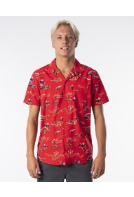Rip Curl Velzy Short Sleeve Shirt (Bright Red)
